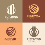 Byggande packe Logo Template Design Vector Stock Illustrationer