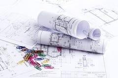 Byggande projekterar Arkivfoton