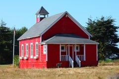 byggande röd skola Arkivfoto