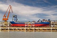 byggande ship Royaltyfria Bilder