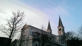 Byggande sikt i Wien Arkivfoto