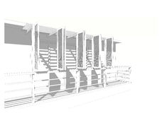 Byggande: skuggaskugga Arkivbild