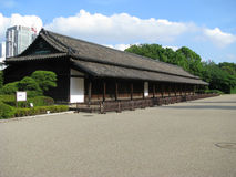 byggande trädgårds- gammala tokyo Arkivfoto