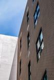Byggande vägg för röd tegelsten av textur Fotografering för Bildbyråer
