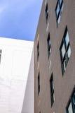 Byggande vägg för röd tegelsten av textur Arkivbild