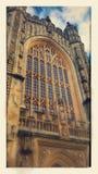 byggd abbeybadbyggnad färgade använda för england historiskt honungsten Arkivbilder