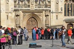 byggd abbeybadbyggnad färgade använda för england historiskt honungsten Royaltyfri Bild