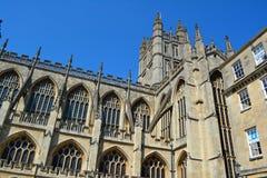 byggd abbeybadbyggnad färgade använda för england historiskt honungsten Fotografering för Bildbyråer