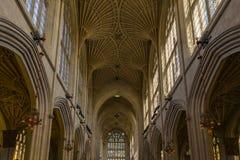 byggd abbeybadbyggnad färgade använda för england historiskt honungsten Arkivbild