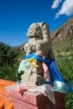 1189 byggd kinesisk dynasti e för porslinet var jag den jin lionstenen år Arkivbilder