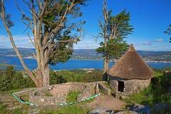 Byggd om Celtic hydda Arkivbilder