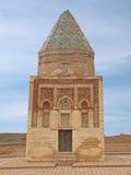 Byggd om mausoleum Il-Arslan i den forntida staden Kunya-Urgench Royaltyfria Foton