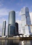 byggda skyskrapor Royaltyfria Bilder