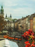 1990 byggde den lviv operatheatren ukraine Royaltyfri Foto