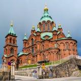 1868 byggde domkyrkaEuropa finland helsinki störst ortodoxt uspensky västra fotografering för bildbyråer