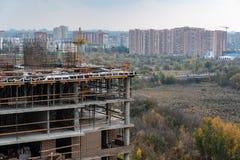 Byggde ett nytt bostads- komplex royaltyfria foton
