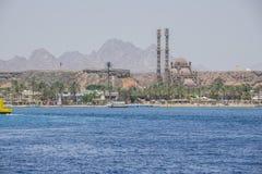 Bygger moskén i Sharm El Sheikh Royaltyfri Fotografi