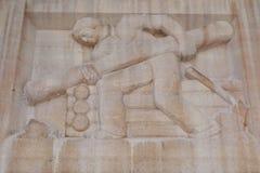 Byggmästare Bas-Relief för journalkabin royaltyfri bild