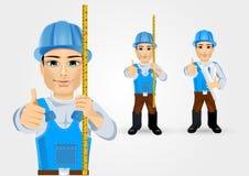 Byggmästare för arbetare för konstruktionstekniker royaltyfri illustrationer