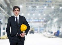 Byggmästare på fabrik Royaltyfria Bilder