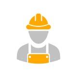 Byggmästarearbetaresymbol stock illustrationer