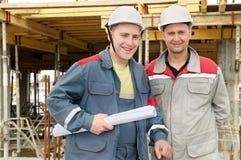 byggmästarekonstruktionsteknikerer Arkivbild