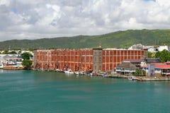 Byggnad av astrolabiet louis mauritius port Royaltyfri Foto