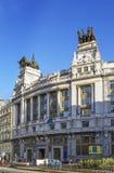 Byggnad av Banco Bilbao Vizcaya, Madrid Arkivbilder