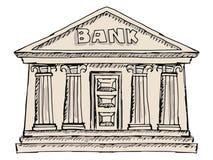 Byggnad av banken Arkivbild