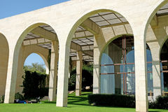 Byggnad av Brigham Young University Jerusalem Center royaltyfri foto