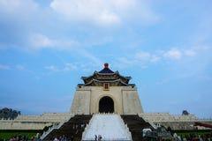 Byggnad av Chiang Kai-shek Memorial Hall i den Taipei staden, Taiwan Arkivfoto
