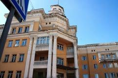 Byggnad av den Joseph Stalin perioden Arkivfoton