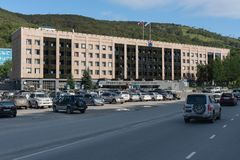 Byggnad av den Kamchatka regionregeringen arkivbilder