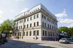 Byggnad av den polska stolpen - kontor, Zakopane Royaltyfria Bilder