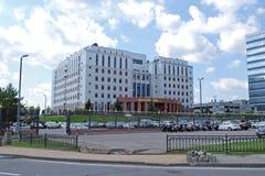 Byggnad av den regionala domstolen för Moskva moscow Ryssland Arkivfoto