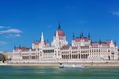 Byggnad av den ungerska parlamentet Royaltyfri Foto