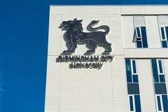 Byggnad av det Birmingham stadsuniversitetet Arkivfoto