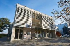 Byggnad av det kroatiska hemmet Vukovar fotografering för bildbyråer
