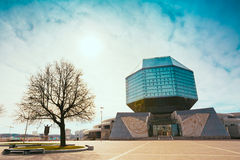 Byggnad av det nationella arkivet av Vitryssland i Minsk Royaltyfria Bilder