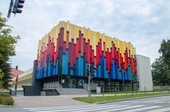Byggnad av det statliga laget av musikskolor dem Kazimierz Wilkomirski Arkivbild