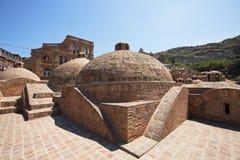 Byggnad av det turkiska badet Arkivbild