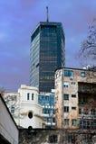 Byggnad av elektricitetsföretaget. Belgrade. royaltyfri foto
