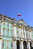 Byggnad av eremitboningen i St Petersburg Arkivfoto