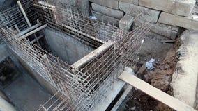 Byggnad av fundamentet stock video