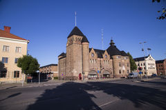 Byggnad av Gästrike Räddningstjänst, gavleräddningsaktionen & brandstationen Royaltyfri Fotografi