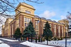 Byggnad av Kaliningrad den regionala domstolen. Kaliningrad Ryssland royaltyfri foto