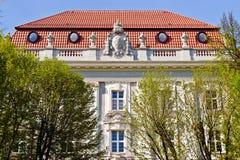 Byggnad av Koenigsberg av den högre regionala domstolen (tyskOber landesgericht). Kaliningrad (Koenigsberg för 1946), Ryssland royaltyfri foto