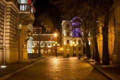 Byggnad av lettiska Saeima i gamla Riga - berömd europeisk stad var turister kan finna en unik atmosfär Fotografering för Bildbyråer