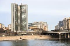 Byggnad av Moskvagovernmet Royaltyfri Fotografi