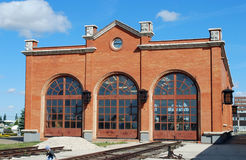 Byggnad av museet av utrustningen av landning gå i skaror Tekniskt museum av K G sakharov Togliatti Arkivfoton